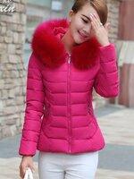 (สินค้าหมด) เสื้อโค้ทกันหนาวผู้หญิง เสื้อกันหนาวแฟชั่น สีชมพูบานเย็น ผ้าขนสัตว์ติดฮู้ด