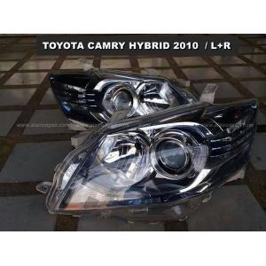 ไฟหน้า CAMRY HYBRID 2010 (L+R) ของแท้ พร้อมส่ง โคมไฟหน้า CAMRY HYBRID 2010 สภาพดีมากหน้าใส ภายในไหม่ๆ ของแท้ 100%