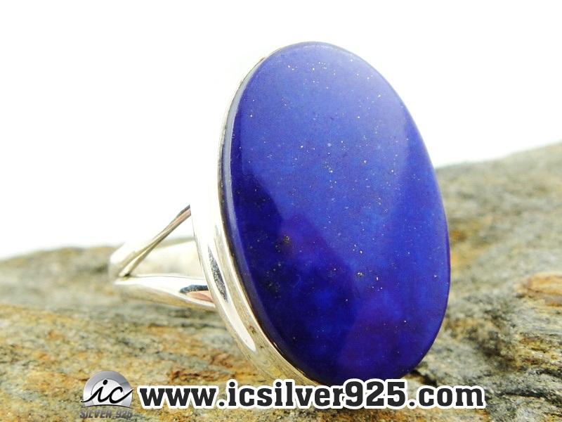 ▽ลาพิส ลาซูลี่ (Lapis Lazuli) แหวนเงินแท้ 925(แหวนเบอร์ : 58) 6.6g