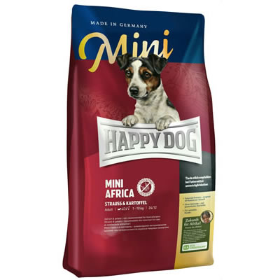 Happy Dog Mini Africa Grain free สุนัขโตพันธุ์เล็ก