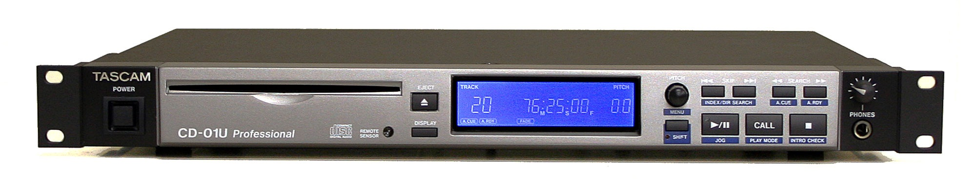 TASCAM CD-01U Pro Compact Disc Player Balance.AES/EBU.Optical Out