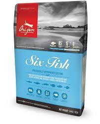 อาหารแมวโอริเจน สูตรปลา 6 ชนิด