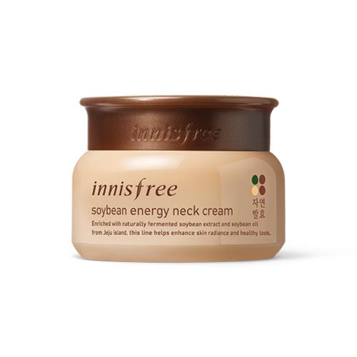 พร้อมส่ง Innisfree Soybean Energy Neck Cream 80ml. ครีมบำรุงผิวบริเวณลำคอ ส่วนผสมของถั่วเชจูหมักเข้มข้น เพื่อผิวที่กระชับเปล่งปลั่งแลดูสุขภาพดี ลดริ้วรอย เพิ่มความยืดหยุ่น และช่วยดูแลรอยเหี่ยวย่นบนลำคอของคุณ