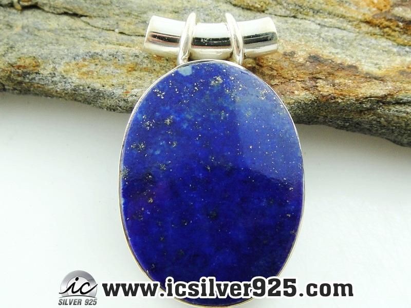 ▽ลาพิส ลาซูลี่ (Lapis Lazuli) จี้เงินแท้ 925 (9.5g)