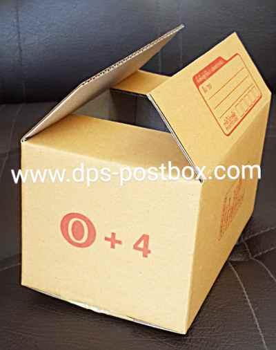กล่องไปรษณีย์แบบฝาชน ไซด์ 0+4