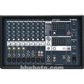 YAMAHA EMX-312SC 12-CHANNEL STEREO POWERED MIXER 300 WATTS x2