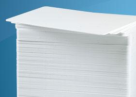 การ์ดแข็ง บัตรพลาสติกเปล่าสีขาว พิมพ์ภาพบนบัตรได้