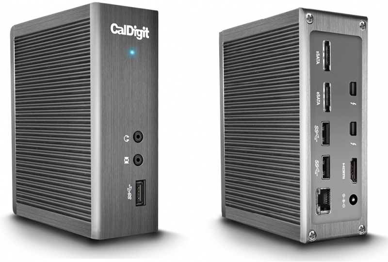 CalDigit Thunderbolt™ Station 2 Interface: Thunderbolt™ 2 & USB 3.0 & eSATA & Audio In & Audio Out & HDMI Out & Gigabit Ethernet