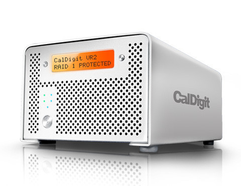 CalDigit VR2 Max Capacity: 8TB | Max Speed: 250MB/s | RAID Levels: 0, 1 & JBOD Interface: USB 3.0, eSATA, FireWire 800 & 400