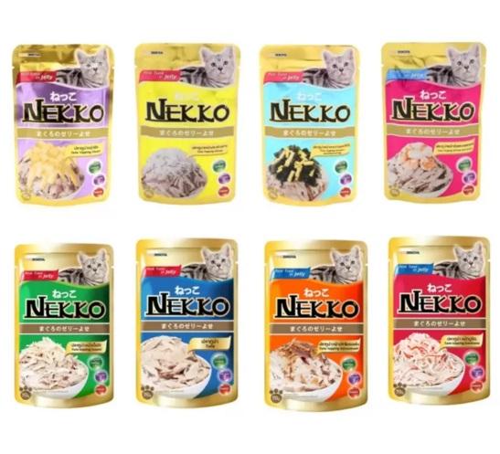 NEKKO อาหารเปียก 8 ซอง 8 รสชาติ