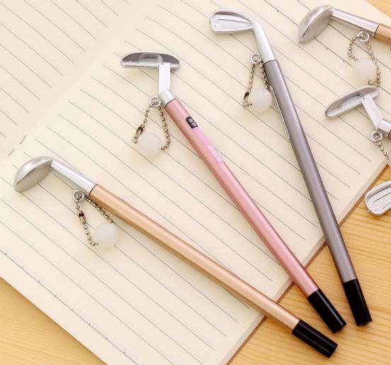 ปากกาเจลไม้กอล์ฟหมึกดำ 95บาทต่อโหล