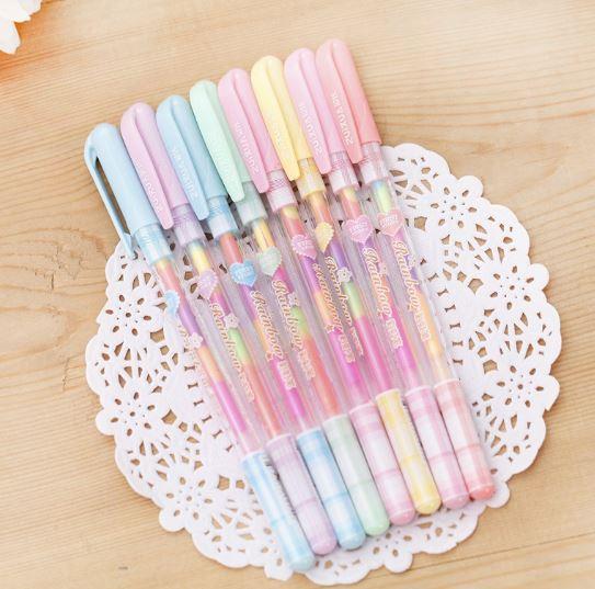 ปากกาเจลสีรุ้ง 90บาทต่อโหล