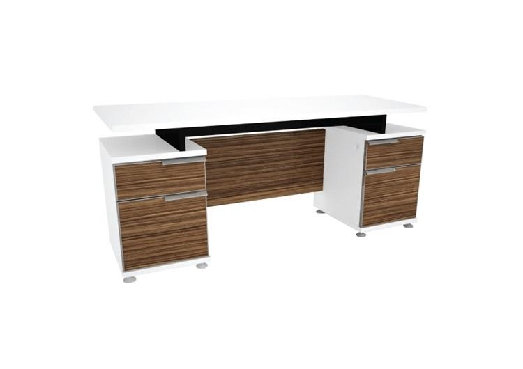 โต๊ะทำงาน 1.80 ม. 2 กล่องลิ้นชักซ้าย / ขวา ZDK1822