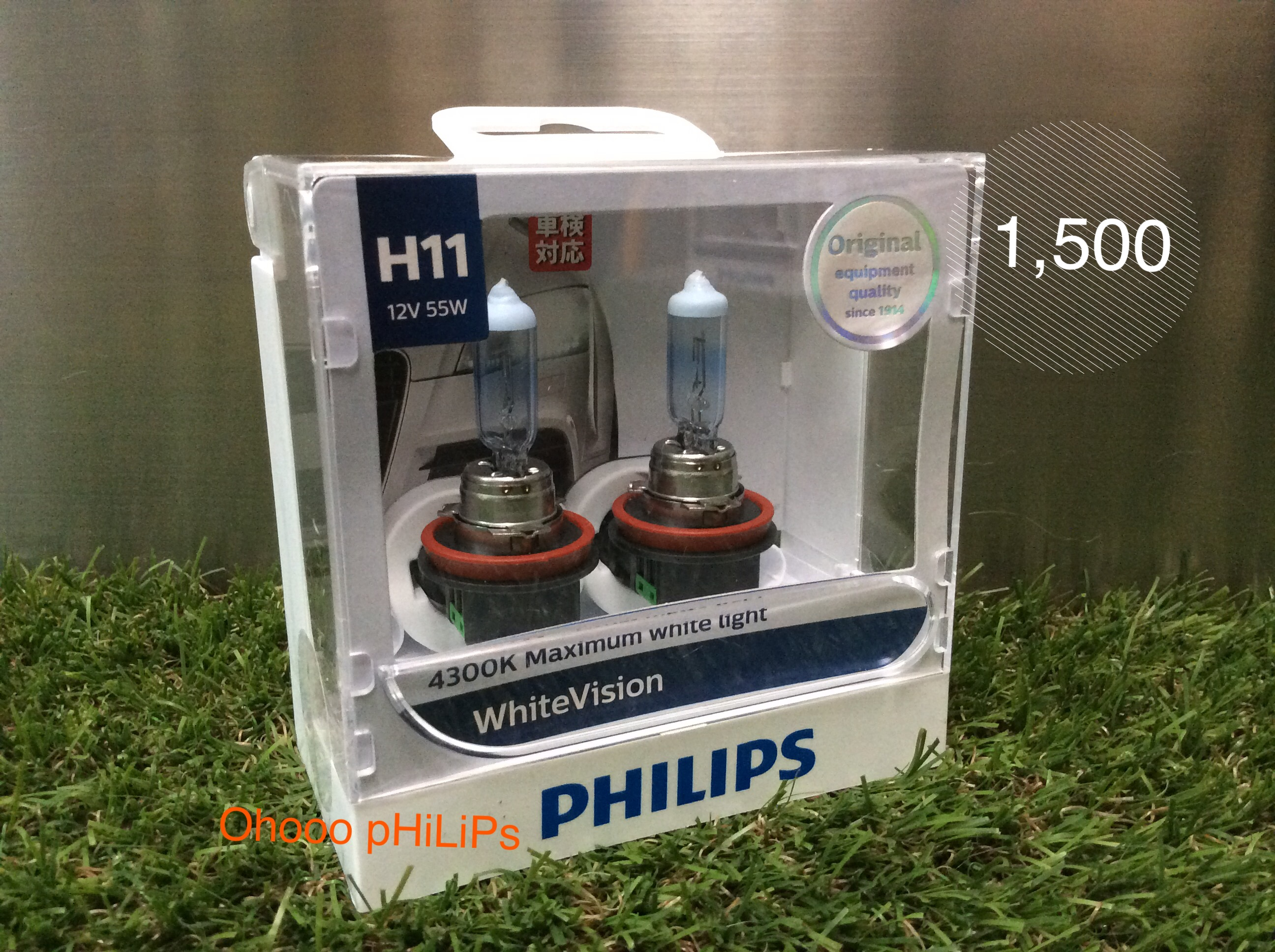 Philips White Vision+60% 4300K H11