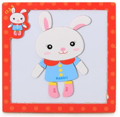 จิ๊กซอว์แม่เหล็ก white rabbit เสริมพัฒนาการ 3 ชิ้นคละได้ 200 บาท