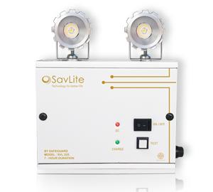 ไฟฉุกเฉินอัตโนมัติเซฟไลท์ SVL225 LED 2x2.5วัตต์ 6V4.5Ah