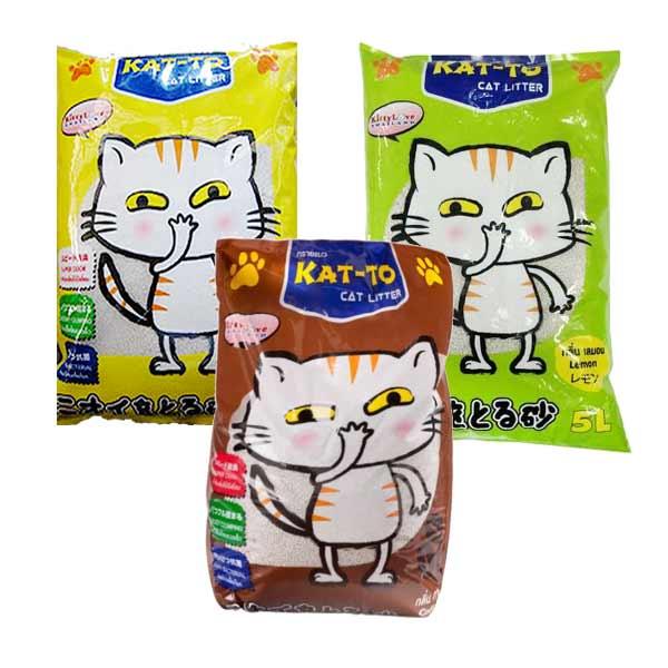 Kat-to ทรายแมว ขนาด 5 ลิตรX3