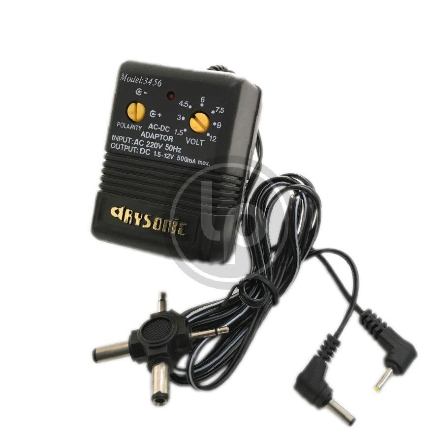 อะแดปเตอร์แปลงไฟ ปรับโวลต์ได้ 500mA ยี่ห้อ RYSONIC