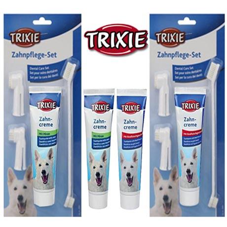 ยาสีฟันและแปรงสีฟันสุนัข Trixie