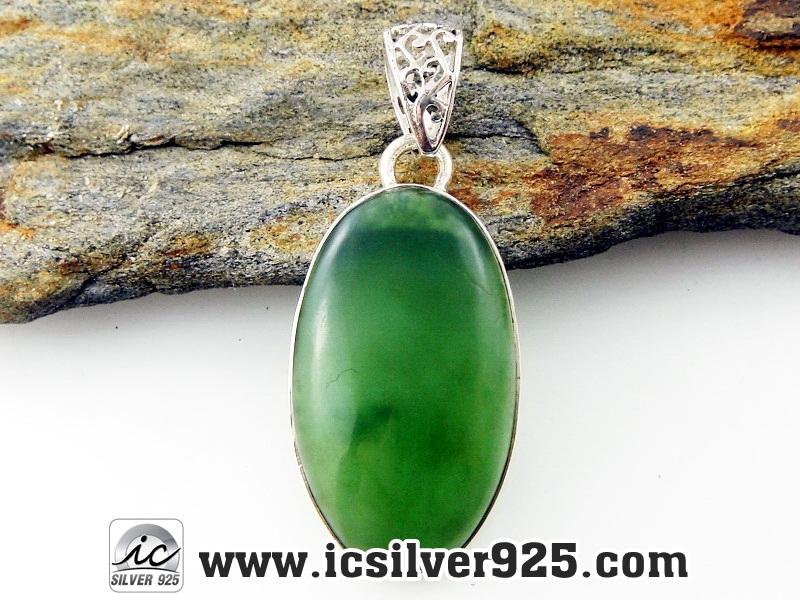 ▽หยก Canadian Jade จี้เงินแท้ 925 (6.3g)