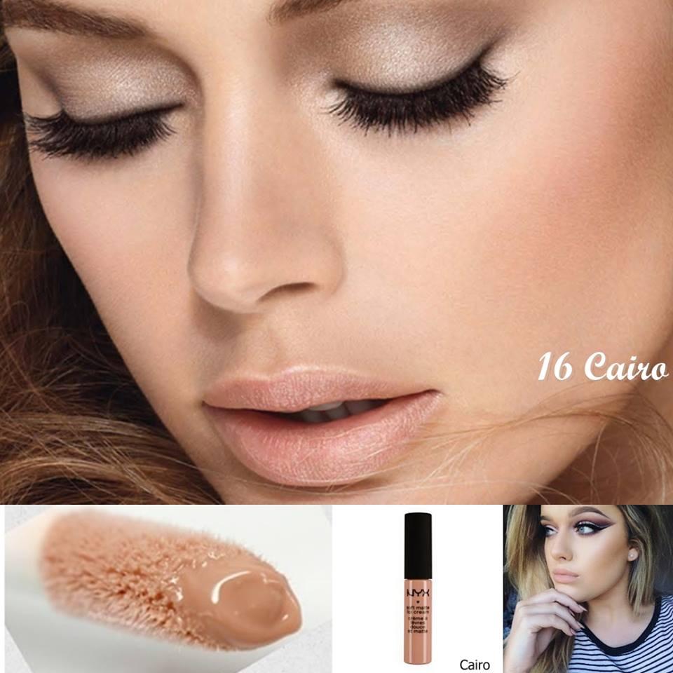 NYX Soft Matte Lip Cream 6.5g # SMLC 16 Cairo (Matte pure nude) ลิปครีม เนื้อแมท นุ่ม สีติดทนนาน ไม่แห้งด้าน ให้สัมผัสที่แปลก