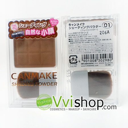 Canmake Shading Powder # 01 Danish Brown เชดดิ้งชนิดฝุ่น เนื้อบางเบาเกลี่ยลงผิวได้อย่างง่ายดาย ให้สีกลมกลืนกับผิว *พร้อมส่ง*