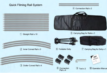 Quick Filming Rail Kit FW-SK4