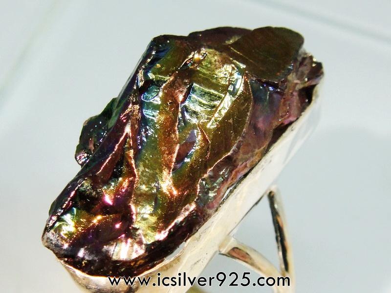 TITANIUM AURA QUARTZ -แหวนเงินแท้ 925 (แหวนเบอร์ : 65) 9.1g