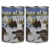 Taste of the wild อาหารสุนัขแบบเปียก สูตรเนื้อปลาแซลมอนในน้ำเกรวี่ 2 กระป๋อง (374gX2)