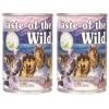 Taste of the wild อาหารสุนัขแบบเปียก สูตรเนื้อเป็ดในน้ำเกรวี่ 2 กระป๋อง (374gX2)