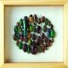 "++ Beetle Art ขนาด 8x8"" แมลงสต๊าฟรูปแบบศิลปะในกล่องไม้พรีเมี่ยม ++"