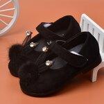 รองเท้าคัดชู-หูกระต่ายแต่งเพชร