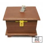 กล่องออมสินโบราณ สีไม้เก่า