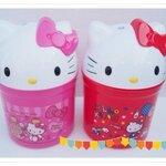 ถังขยะ Hello Kitty สีแดง ราคาส่ง 100 บาท