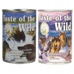 Taste of the wild อาหารสุนัขแบบเปียก สูตรเนื้อปลาแซลมอนในน้ำ 1 กระป๋อง และสูตรเนื้อเป็ดในน้ำเกรวี่ 1 กระป๋อง