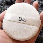 Dior Loose Powder Puff พัฟนุ่ม แน่น สีขาว ทำจากผ้ากำมะหยี่ คุณภาพดี ขนาดปกติ