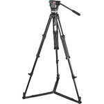 Sachtler Ace Fluid Head with 2-Stage Aluminum Tripod & On-Ground Spreader