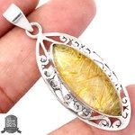 ▽จี้เงินแท้ 925 - ไหมทอง Golden Rutile (7.8g)