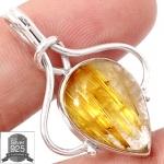 ▽จี้เงินแท้ 925 - ไหมทอง Golden Rutile