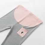 เลคกิ้งคนท้อง P34 สี light gray (กระเป๋าชมพูลายแมว) มีผ้าพยุงครรภ์และสายปรับเอว ราคาส่ง 395 บาท