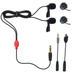 COMICA CVM-D02 ฺB,R (4.5M) Dual-head Lavalier Microphone for Gopro