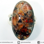 คาร์เนเลี่ยน (CARNELIAN COPPER MOHAVE) แหวนเงินแท้ 925 (แหวนเบอร์ : 53)