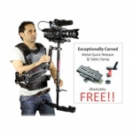 Camtree Galaxy Stabilizer Arm & Vest with Wonder-3 Steadycam System Supporting Cameras weighing upto 4kg / 8.82lbs (GLXY-AV-WNDR3)