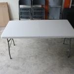 โต๊ะอเนกประสงค์พับได้ สีขาว KOMMET HDPE รุ่น HDT-150W