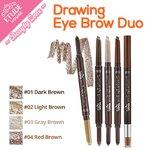 พร้อมส่ง Etude House Drawing Eye Brow Duo ดินสอเขียนคิ้วหัวตัด โด่ดเด่นด้วยปลายอีกด้านที่เป็นฟองน้ำบรรจุเขียนคิ้วแบบฝุ่น กันน้ำและเหงื่อได้ดี ติดทนนาน