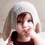 หมวกถักนิตติ้ง-ทรงกระต่าย(หูตก)
