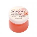 พร้อมส่ง Skinfood Premium Tomato Whitening Moisture Synergy Cream 78ml. ครีมบำรุงผิวขาว สารสกัดจากมะเขือเทศเข้มข้น 30% ช่วยปรับผิวขาวกระจ่างใส ไร้จุดด่างดำ เหมาะสำหรับผิวบอบบางระคายเคืองง่าย
