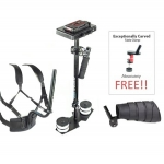 FLYCAM 5000 Camcorder Stabilizer with Body Pod and Arm Brace Supporting Cameras weighing upto 5kg/11lbs - FREE Table Clamp