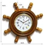 CARA WOOD นาฬิกาพวงมาลัยเรือ ไม้สักทอง