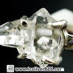 ▽เพชรเฮอร์คิวเมอร์ ( HERKIMER DIAMOND ) แหวนเงินแท้ 925(แหวนเบอร์ : 62) 2.5g
